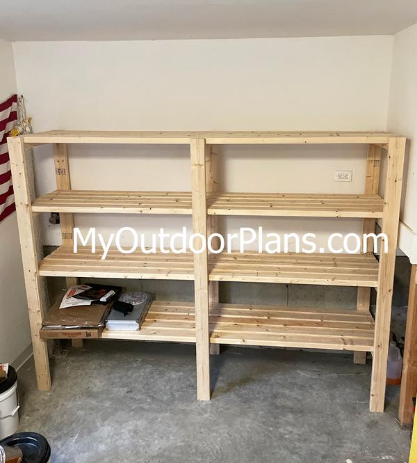 DIY 2x4 Shelves
