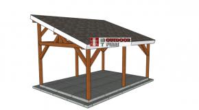 14×20 Lean to Pavilion – Free DIY Plans