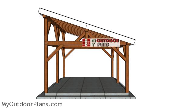 14x20-Gable-Pavilion-Plans---front-view
