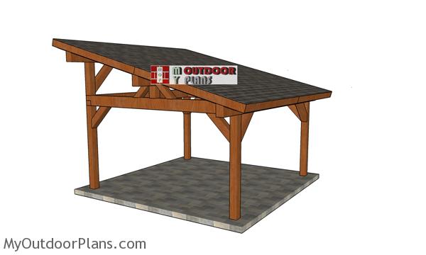 16x16 Lean to Pavilion Plans