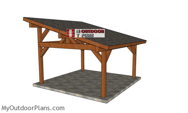 16x16 Lean to Pavilion Plans