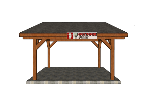Build-a-16x16-lean-to-pavilion