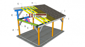 14×20 Lean to Pavilion Roof Plans