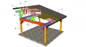 16×16 Lean to Pavilion Roof Plans