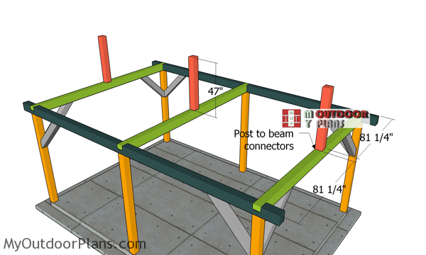 Fitting-the-ridge-beam-supports