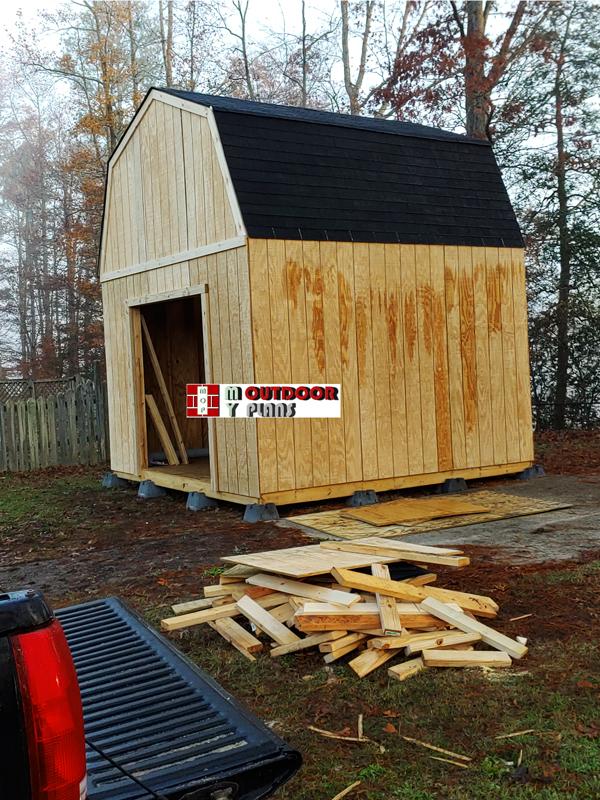 DIY 12x12 barn style shed