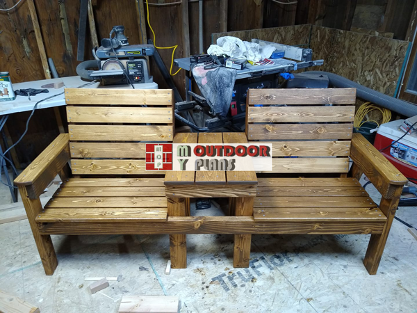 Large-double-chair-bench---diy-project