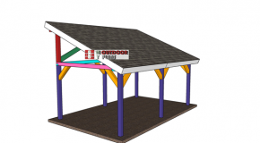 12×20 Lean to Pavilion – Free DIY Plans