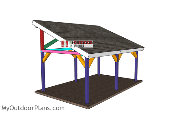 12x20 Lean to Pavilion - Free DIY Plans
