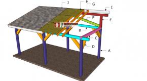 10×20 Lean to Pavilion Roof Plans
