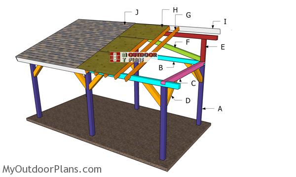 10x20 Lean to Pavilion Roof Plans