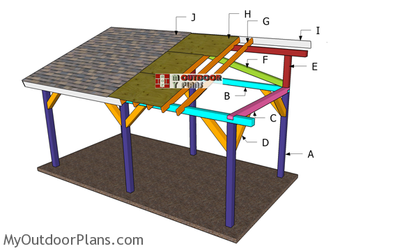 10x20 Lean to Pavilion Roof Plans