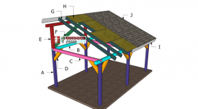12×20 Outdoor Pavilion Lean to – Roof Plans