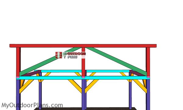Diagonal-braces-for-ridge-beam