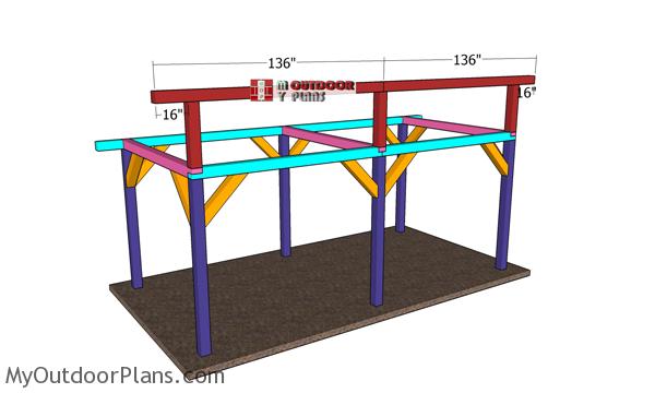 Fitting-the-ridge-beams