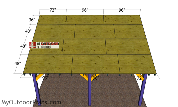 Fitting-the-roof-sheets---12x20-lean-to-pavilion