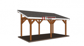 10×20 Lean to Pavilion – Free DIY Plans