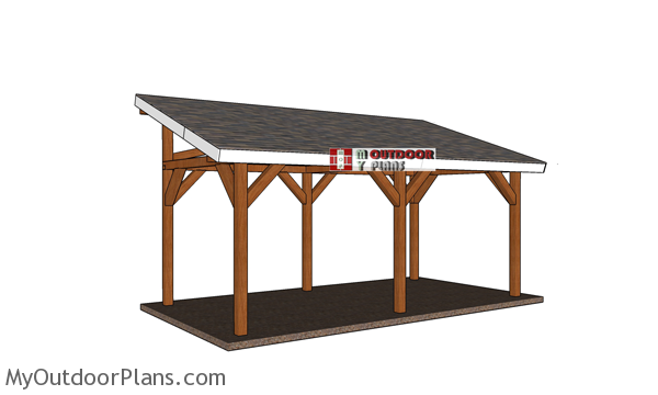 10x20 Lean to Pavilion - Free DIY Plans