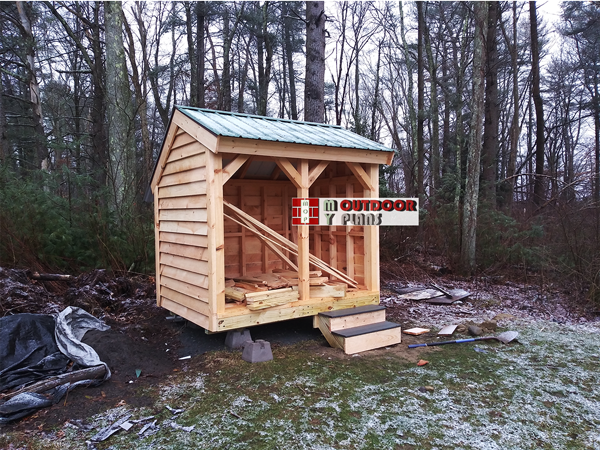 DIY 6x8 Saltbox Woodshed
