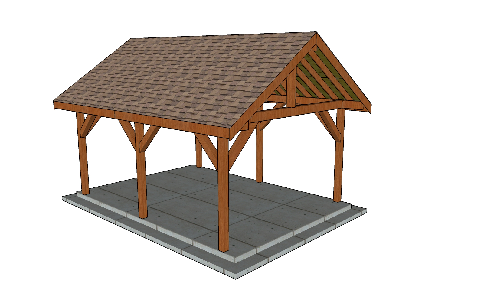 14x18 Gable Pavilion - Free DIY Plans