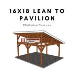 16x18-Lean-to-Pavilion-Plans---Featured-image