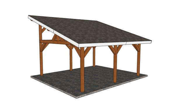 16x18 Lean to Pavilion Plans Free