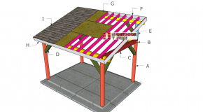 10×14 Outdoor Pavilion Lean to Roof Plans