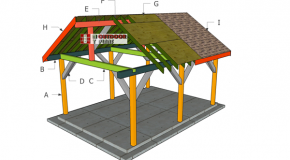 14×18 Backyard Pavilion – Gable Roof Plans