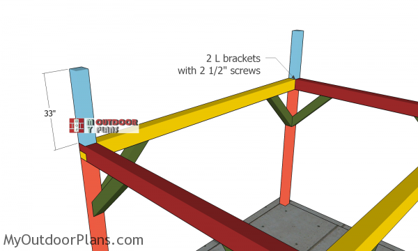 Fitting-the-supports-for-ridge-beam