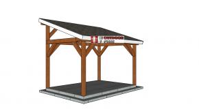10×14 Lean to Pavilion – Free DIY Plans