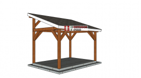 10×14 Lean to Pavilion – Free DIY Plans