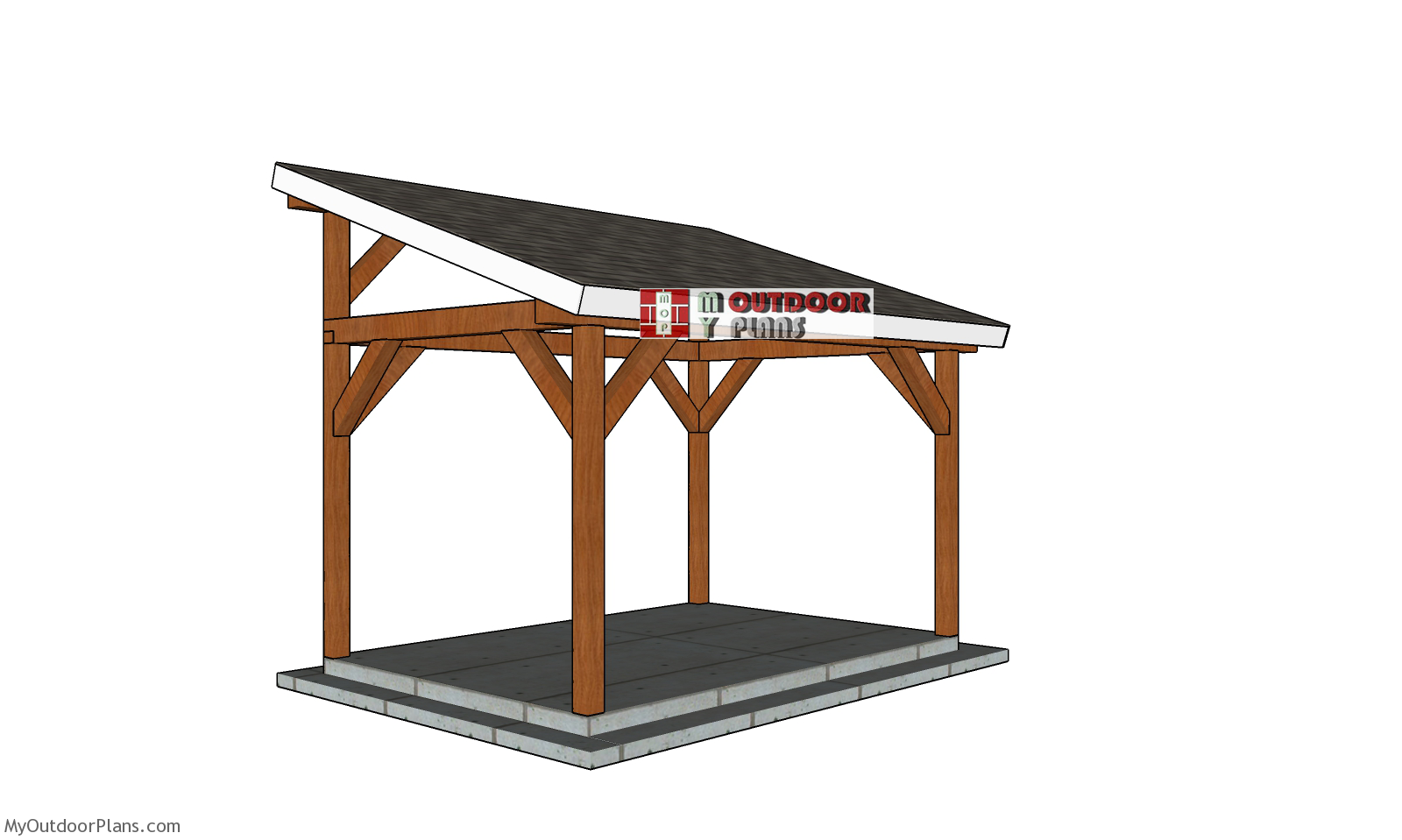 10x14 Lean to Pavilion - Free DIY Plans