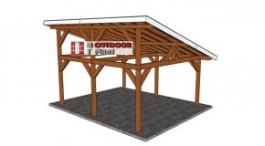 16×18 Lean to Pavilion – Free DIY Plans
