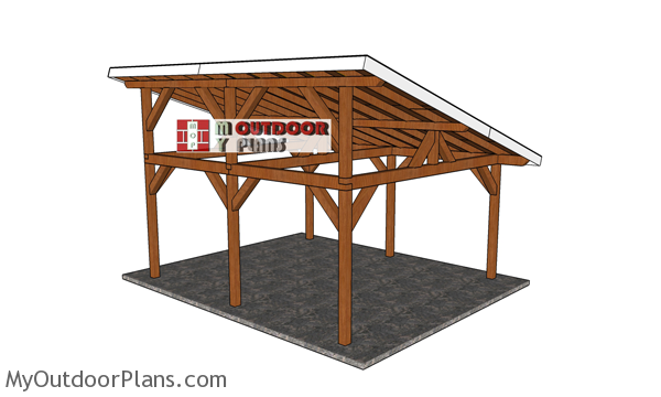 16x18 Lean to Pavilion - Free DIY Plans