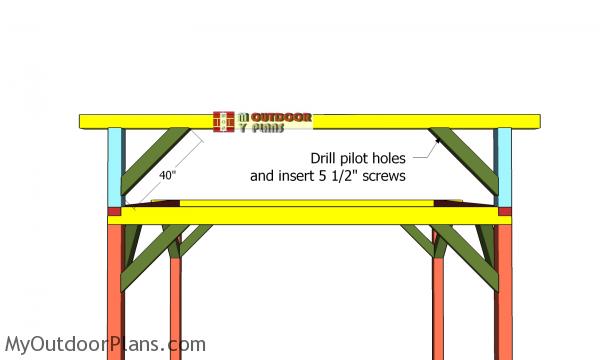 Ridge-beam-braces