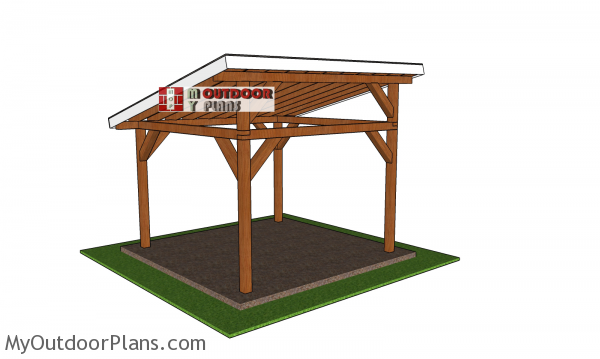 12x12-Lean-to-Pavilion-Plans---back-view