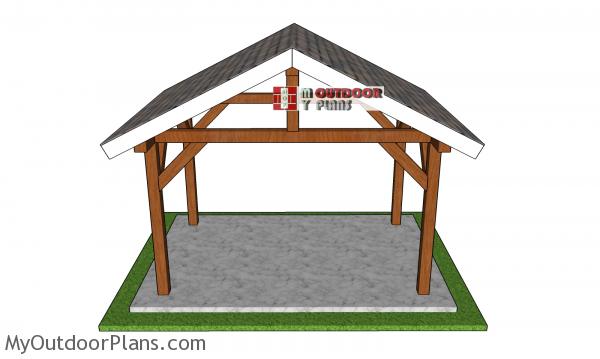 12x8-gable-pavilion-plans---front-view