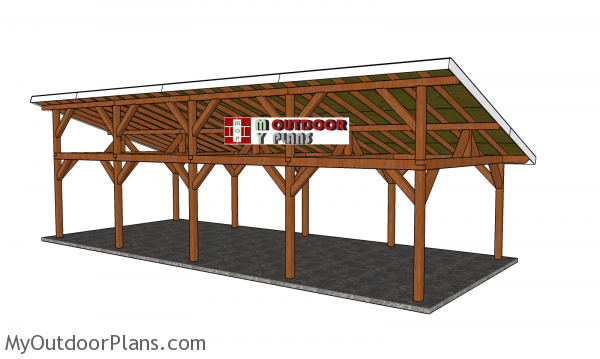 16x40-Lean-to-Pavilion-Plans---back-view