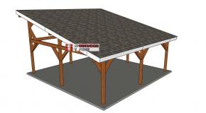 24×24 Lean to Pavilion – Free DIY Plans