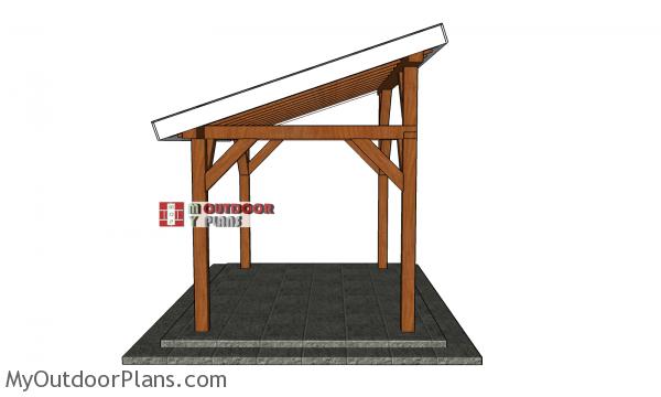 8x12-lean-to-pavilion---side-view