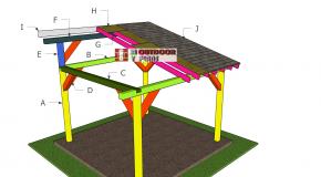 12×12 Lean to Pavilion Roof Plans