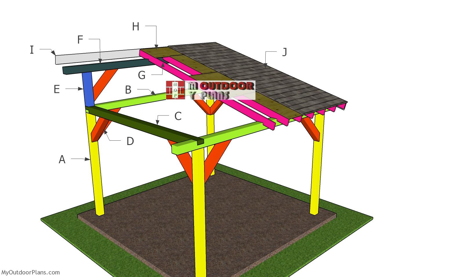 12x12 Lean to Pavilion Roof Plans