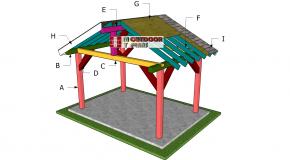12×8 Gable Pavilion Roof Plans