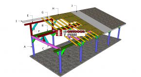 16×40 Lean to Pavilion Roof Plans