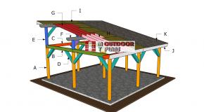 20×20 Lean to Pavilion Roof Plans