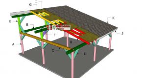 24×24 Lean to Pavilion Roof Plans