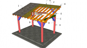 8×12 Lean to Pavilion Roof Plans