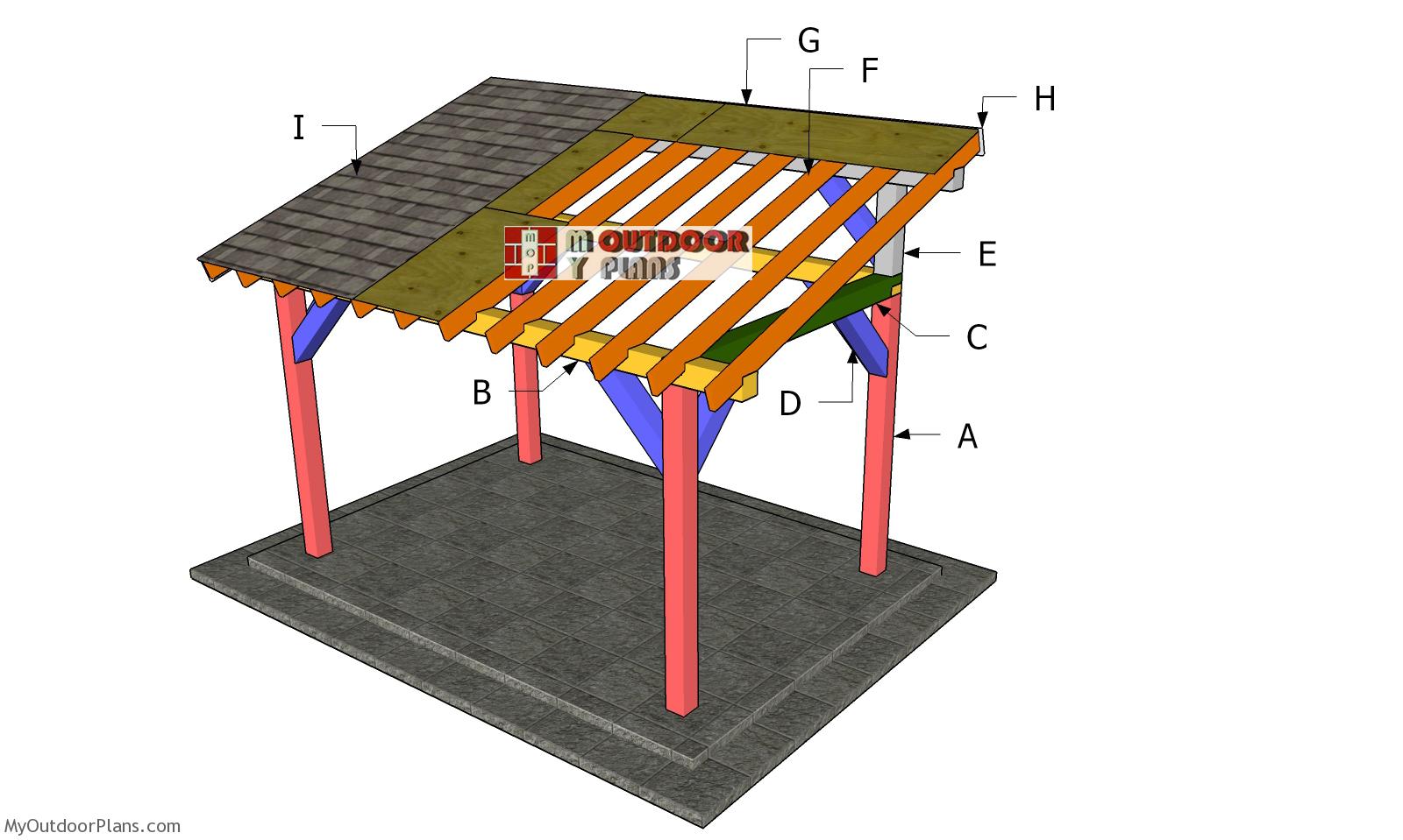 8x12 Lean to Pavilion Roof Plans