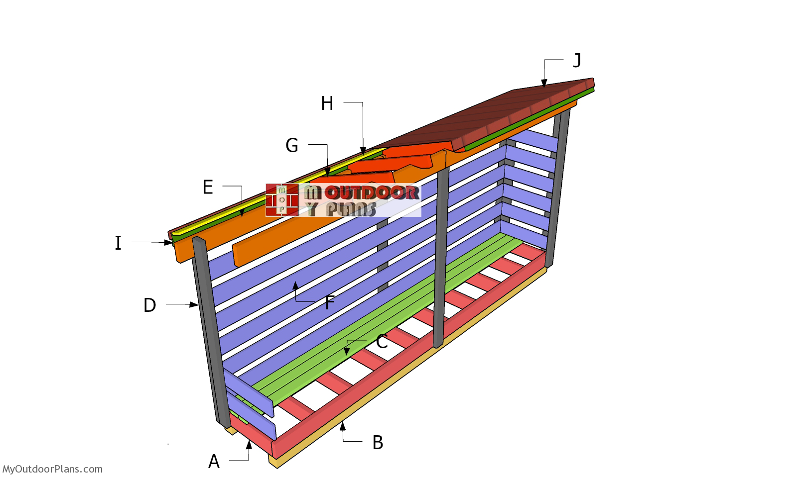 3x10 Wood Storage Shed Plans - Part 2