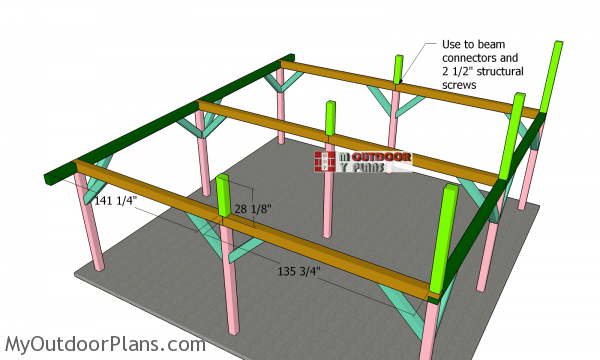 Fitting-the-middle-support-beams